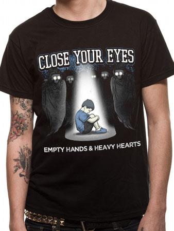 Close Your Eyes (Empty Hand & Heavy Hearts) T-shirt