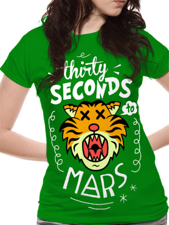 30 Seconds To Mars (Cartoon Tiger) T-shirt