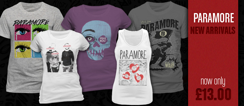 Paramore products at Loudclothing.com