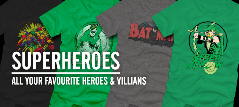 Official Superhero Tees and merchandise