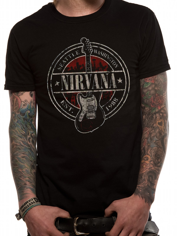 Nirvana seattle 1988 t shirt tm shop for Seattle t shirt printing