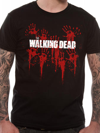 Walking Dead (Bloody Hands Logo) T-Shirt Preview