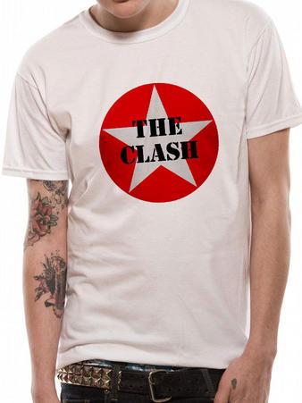 The Clash Star Logo White T Shirt