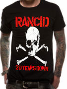Rancid (20 Years Down Skull) T-shirt