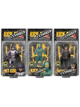 "Kick Ass 2 (Uncensored Packaging) 7"" 3 Set Action Figures Preview"