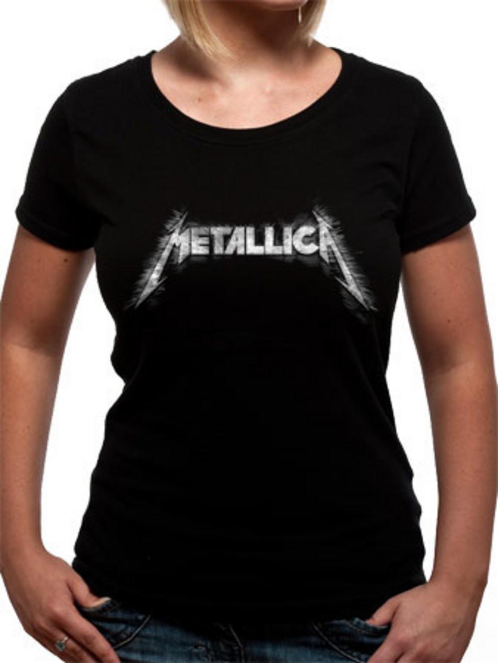 metallica sliced logo womens tshirt tm shop