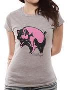 Pink Floyd (Pink Piggie Womens) T-shirt