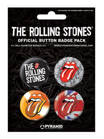 Rolling Stones (Two) Button Badge Pack Preview