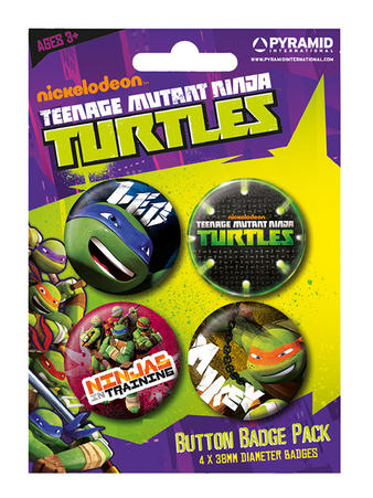 Turtles (Ninjas) Button Badge Pack Preview