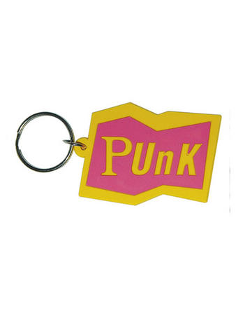 Punk (Pink) Rubber Keychain Preview