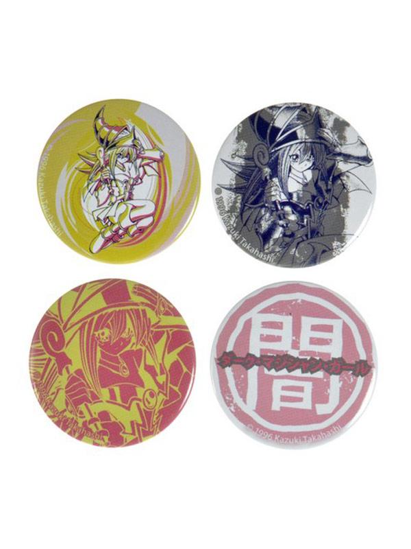 Official Yu-Gi-Oh (Dark Magician Girl) 4 Pin Set