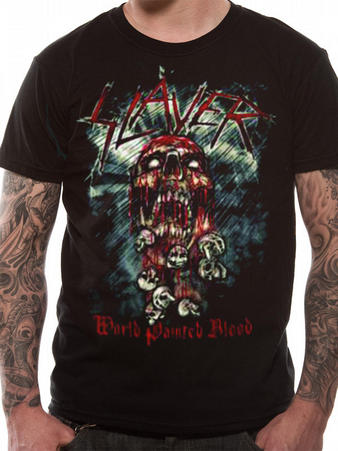 Slayer (Skull World Painted Blood) T-shirt Preview