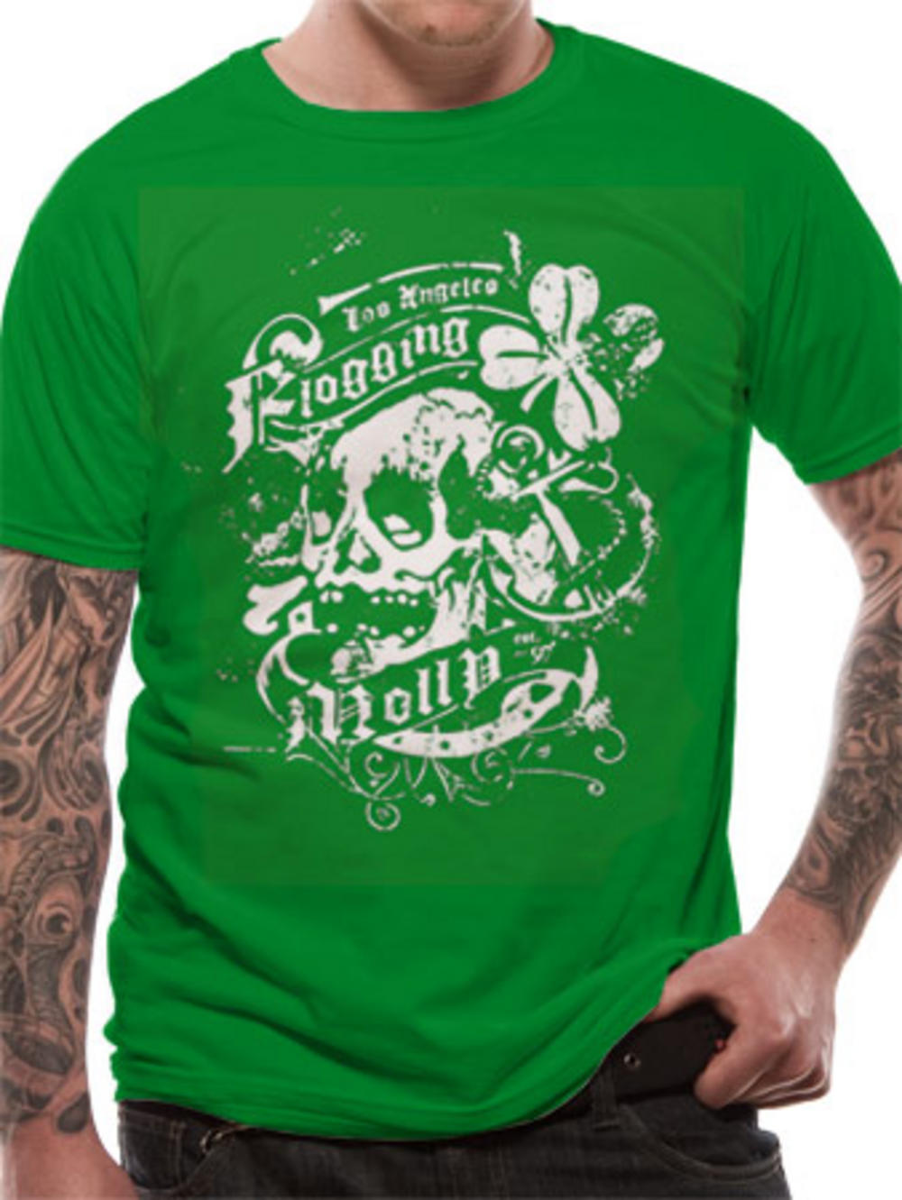Flogging Molly (Green Shamrock) T-shirt. Buy Flogging Molly (Green