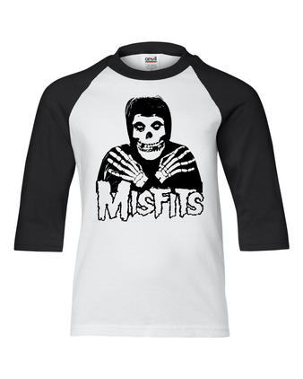 Misfits (Crossed Heads) Baseball Shirt Preview