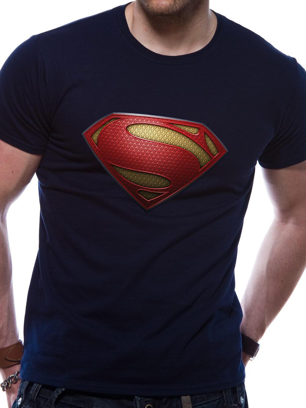 man of steel textured logo t shirt buy man of steel