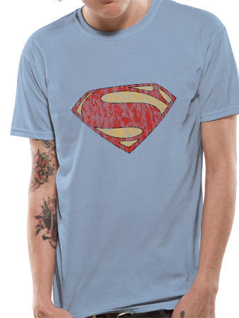 Man Of Steel (Distressed Logo) T-shirt Preview