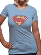 Man Of Steel (Distressed Logo) T-shirt
