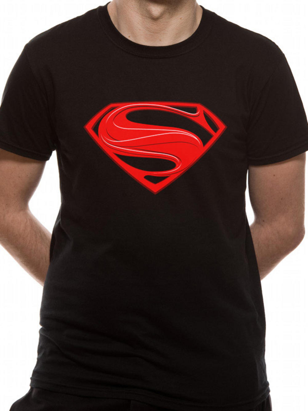 Man of steel red logo t shirt tm shop for Man of steel t shirt online