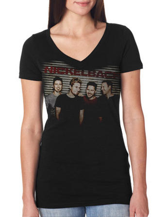 Nickelback (Smiling Photo) V Neck T-shirt