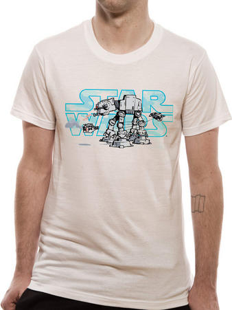 Star Wars (Logo AT-AT) T-shirt Preview