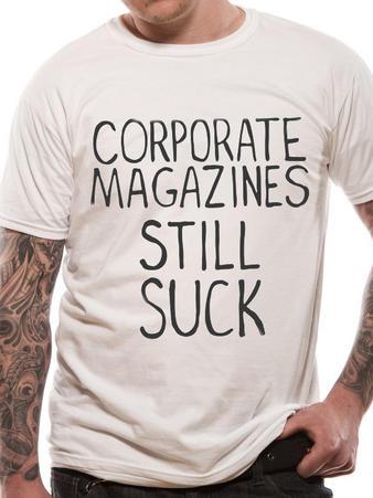 Kurt Cobain (Corporate Magazine) T-shirt Thumbnail 2