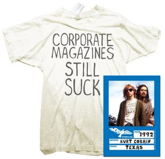 Kurt Cobain (Corporate Magazine) T-shirt Thumbnail 1