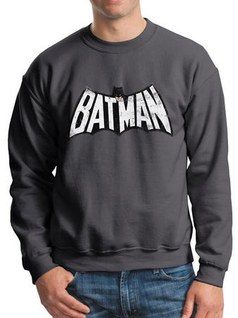 Batman (Retro Logo B And W) Crew Neck Preview