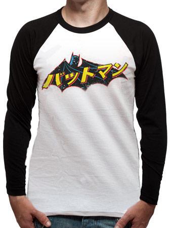 Batman (Japanese Logo) Baseball T-shirt Preview