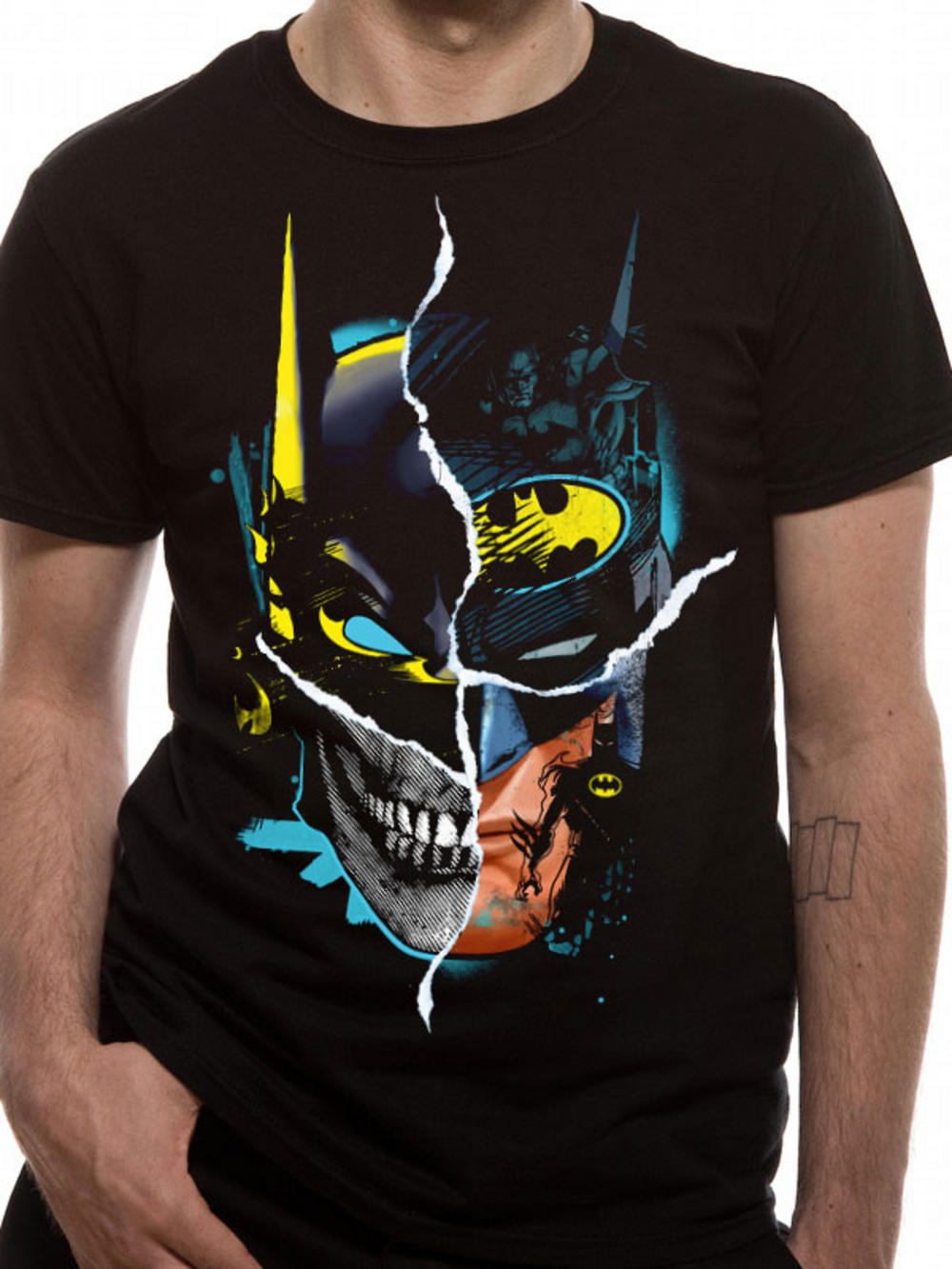 batman gotham face exclusive t shirt buy batman gotham. Black Bedroom Furniture Sets. Home Design Ideas