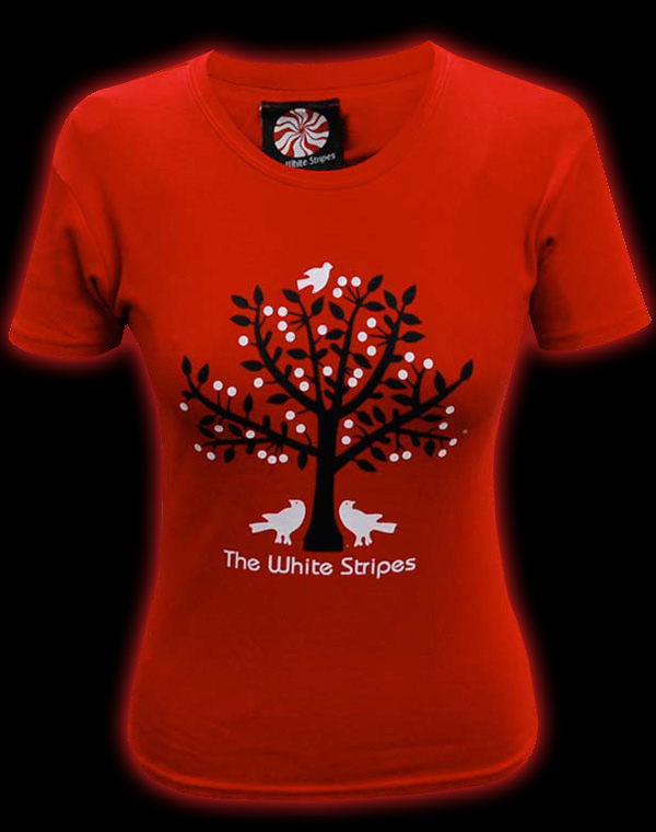 Official The White Stripes (Tree Of Life) Women's Fitted T-shirt ...