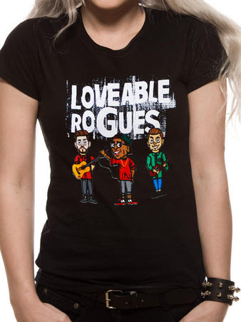 Loveable Rogues (Cartoon Band) T-shirt Preview