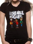 Loveable Rogues (Cartoon Band) T-shirt