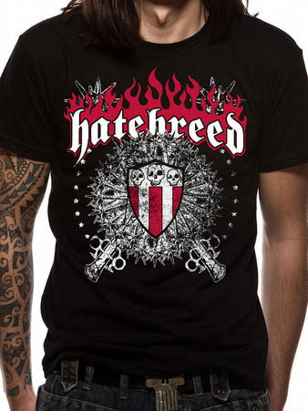 Hatebreed (Skull And Maces) T-shirt Preview