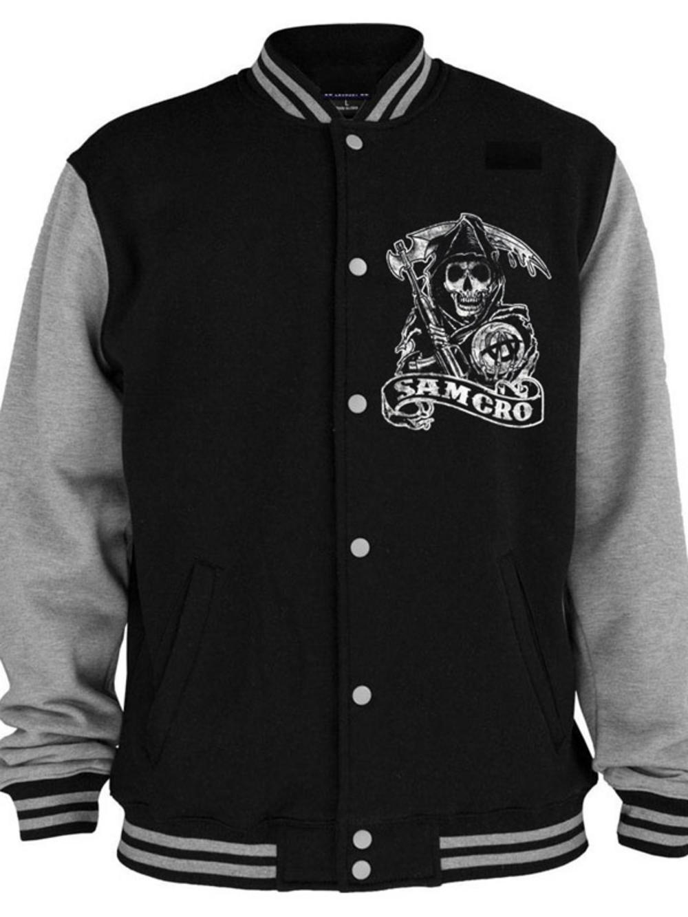 sons of anarchy samcro varsity jacket buy sons of. Black Bedroom Furniture Sets. Home Design Ideas