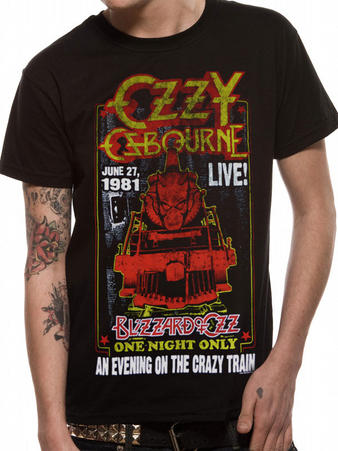 Ozzy (Crazy Train Live) T-shirt Preview