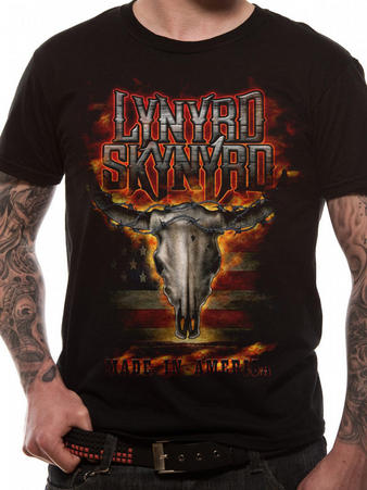 Lynyrd Skynyrd (Flaming Skull) T-shirt Preview