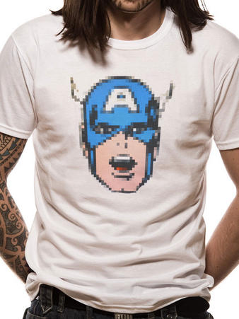 Captain America (Pixel) T-shirt Preview