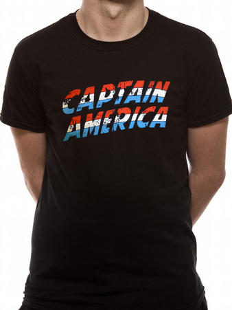 Captain America (Text Logo) T-shirt Preview