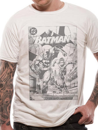 Batman (B&W Comic) T-shirt Preview