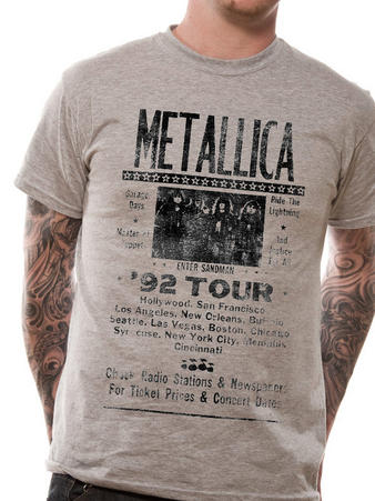 Metallica (Iconic 1992 Tour Poster) T-shirt Preview
