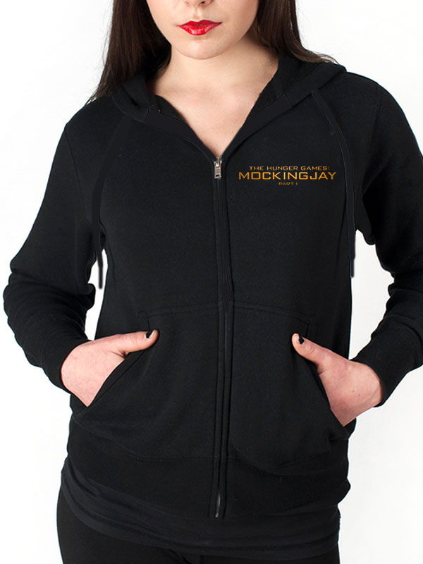 Official The Hunger Games (Mocking Jay Part 1) Fitted Hoodie - All sizes