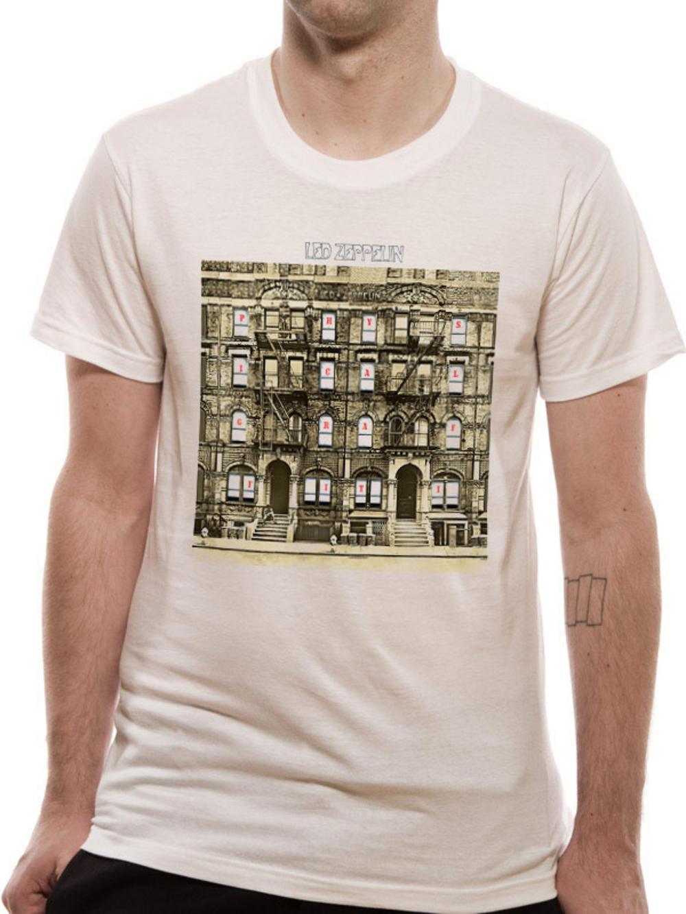 led zeppelin physical graffiti t shirt tm shop. Black Bedroom Furniture Sets. Home Design Ideas