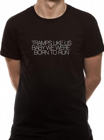 Bruce Springsteen (Tramps Like Us) Black T-shirt Thumbnail 1