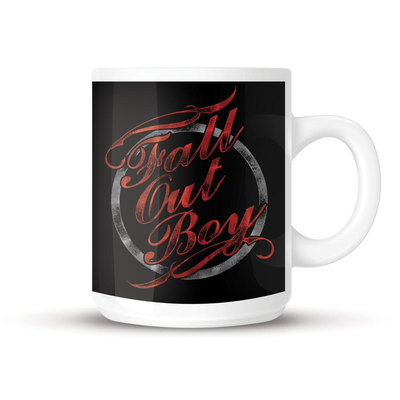 fall out boy typography mug tm shop