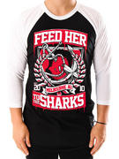 Feed Her To The Sharks (Broken Anchor) Raglan