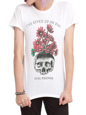 Real Friends (Skull) Fitted T-shirt Preview