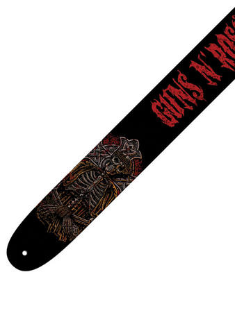Guns N Roses (Logo Red) Leather Guitar Strap Preview