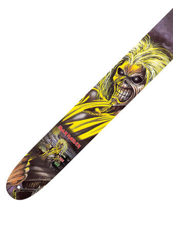 Iron Maiden (Run To The Hills) Leather Guitar Strap Preview