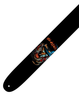 Slash (Red Skull) Leather Guitar Strap Preview