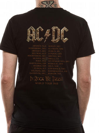 AC/DC (Rock Or Bust Tour) T-Shirt Pre-order Released W/C 31st August Thumbnail 2